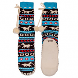 Kid's Horse Fair Isle Muckluk Slippers by Lazy One