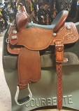 "13 1/2"" Black Bison Seat Guardian Saddle by Martin Saddlery"