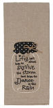 Embroidered Chambray Mason Jar Tea Towel by Kay Dee Designs