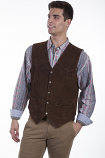 Men's Suede Snap Western Front Vest from Scully - MORE COLORS