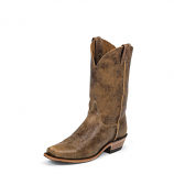 Men's Cracked Brown Bent Rail Boot by Justin