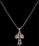 Silver Strike Triple Cross Necklace By 3D Belt Co.