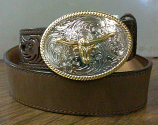 Kid's Dark Brown Western Belt by 3D Belt CO