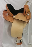 Barrel Saddle with Black Seat by Dakota Saddlery