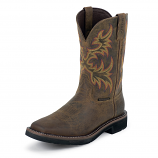 Men's Driller Waterproof Steel Toe Boot by Justin Work Boots