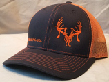 "Charcoal and Orange ""Show Your Skull"" Texas Trophy Hunters Association (TTHA) Snapback Hat by Oil Field Hats, LLC"