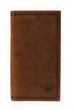 Rodeo Perforated Edge Wallet in Distressed Leather by Ariat