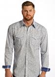 Men's Santa Croce Vintage Print Long Sleeve Shirt by Panhandle Slim