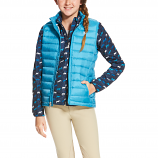 Kid's Ideal Barrier Blue Down Vest by Ariat