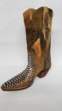 Women's Rust Dye Python Boots by Black Jack