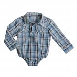 Boy's Aqua Snap Bodysuit by Wrangler