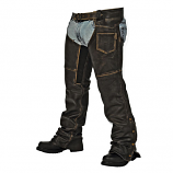 Lined Crazy Horse Leather Chaps