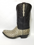 Men's Full Quill Ostrich boot in Mist Burciato by Black Jack