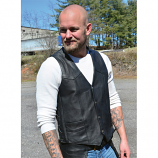Men's Interstate King Side Lace Leather Vest by Carroll Leather