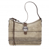 Trading Post Large Zip Top Shoulder Bag by American West