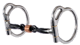 "Trail Dee-7/16"" 3-Piece Smooth Sweet Iron Snaffle with Copper Roller"