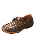 Women's Distressed Leopard Moccasins by Twisted X