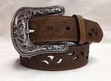 "Women's 1 1/2"" Scroll with Cut Outs Belt by Ariat"