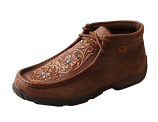 Women's Brown Tooled Flower Driving Moc by Twisted X