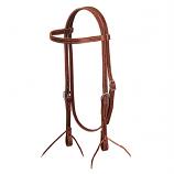 Single Ply Latigo Leather Browband Headstall by Weaver