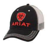 Men's Black/Grey Ball Cap by Ariat