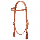 ProTack Quick Change Browband Headstall with Leather Tab Bit End by Weaver