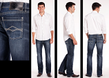 Men's Dark Reflex Slim Straight Jean by Rock & Roll