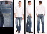 Men's Double Barrel Bootcut Medium Wash Vintage Jeans bu Rock and Roll