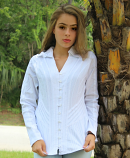Women's Unique Embroidered button down in white by Inca Cottons