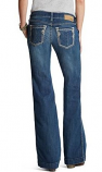 Women's Medium Wash with Silver Stud Trouser Jean by Ariat