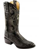 Men's Black Print Caiman Boot by Ferrini
