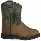 Kid's Autry Green and Brown Boot by Smoky Mountain Boots