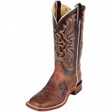 Women's Brown Cross Square Toe Mad Dog Boot by Tony Lama