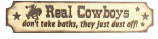 Real Cowboys Wall Sign By M&F Western Products