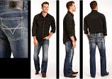 Men's Dark Vintage Pistol Straight Leg Jean by Rock and Roll Cowboy