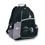 Backpack Black and Grey with Horse by Kelley and Co.