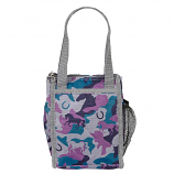 Grey, Blue and Purple Horse Camo Print Lunch Sack by AWST International