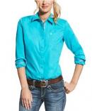 Women's Kirby Stretch Long Sleeve Shirt in Bluebird by Ariat