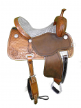 "15"" Chestnut Crown C Elephant Seat by Martin Saddlery"