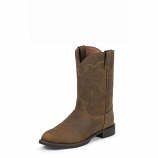 Men's Tan Apache Western Roper Boot by Justin Boot Co.