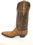 Women's Full Quill Smooth Ostrich Boots in Burnished Cigar by Black Jack