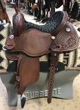 """14"""" Black Suede Stingray Saddle by Martin Saddlery"""