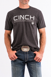 Men's Grey Cotton-Poly Tee by Cinch