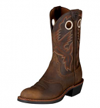 Women's Antique Brown Heritage Roughstock Boot by Ariat